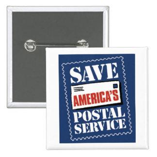 Save America's Postal Service 15 Cm Square Badge
