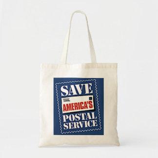 Save America's Postal Service Budget Tote Bag