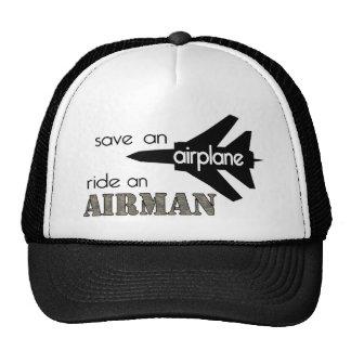 Save An Airplane Ride An Airman Hat