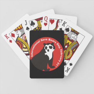 Save andean bears playing cards
