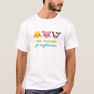 Save Animals Go Vegetarian T-Shirt