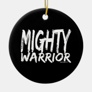 Save by Mighty Warrior Ceramic Ornament