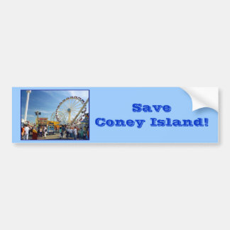 Save Coney Island! Bumper Sticker (blue)