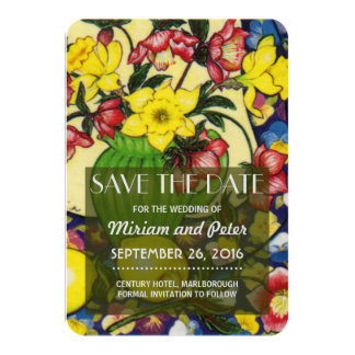 Save Date Winter Blooms Hellebores 9 Cm X 13 Cm Invitation Card