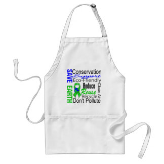 Save Earth Environment Awareness Collage Aprons