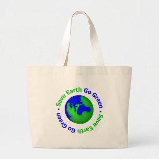 Save Earth Go Green Circular Bag