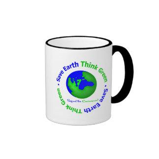 Save Earth Go Green Globe Mug