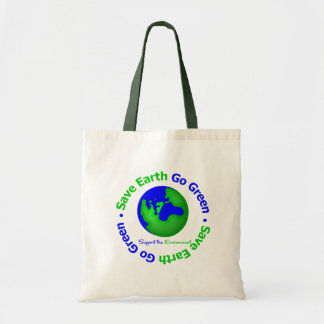 Save Earth Go Green Support the Environment Tote Bags
