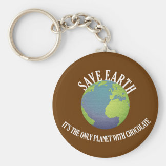 save earth it's the only planet with chocolate key ring