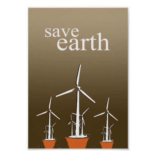 SAVE EARTH POSTER