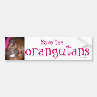 Save Endangered Species : orangutans Bumper Sticker