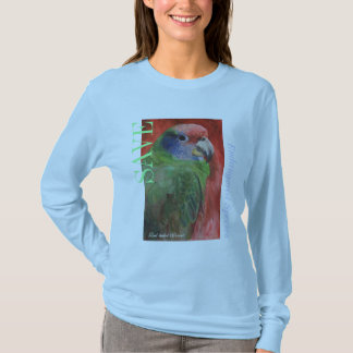 """SAVE Endangered Species"" Parrot Painting T-Shirt"