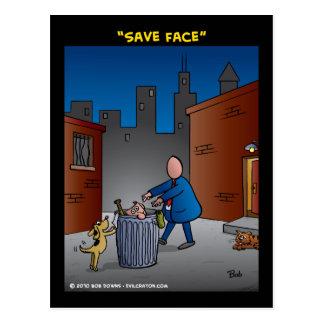 """Save Face"" Postcard"