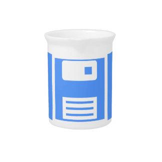 Save Floppy Disk Pitcher