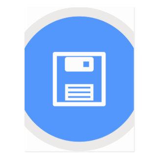Save Floppy Disk Postcard