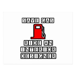 Save Gas...Ride An Interior Designer Postcard