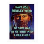 Save Gas - WW2 Postcards