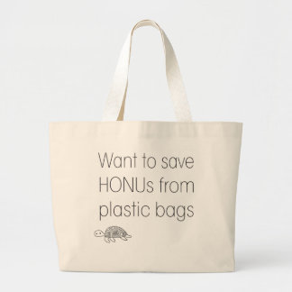 Save Honu Large Tote Bag