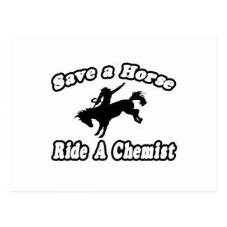 Save Horse, Ride Chemist Postcard