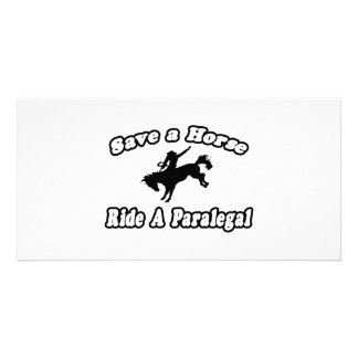 Save Horse Ride Paralegal Personalized Photo Card