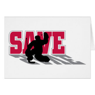 Save - Ice Hockey Goaltender Sports Card