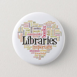 Save Libraries 1 6 Cm Round Badge