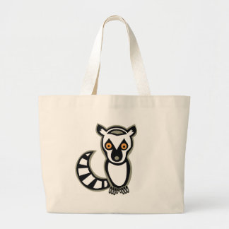 """SAVE"" LUNA the LEMUR Large Tote Bag"