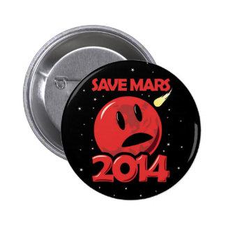 Save Mars 2014! Pinback Buttons