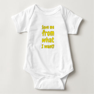 Save me from what I want Baby Bodysuit