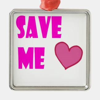 save me Silver-Colored square decoration