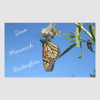 Save Monarch Butterflies Rectangular Sticker