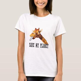 Save My Planet Giraffe T-Shirt