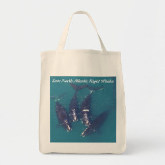 Save North Atlantic Right Whales by RoseWrites Tote Bag