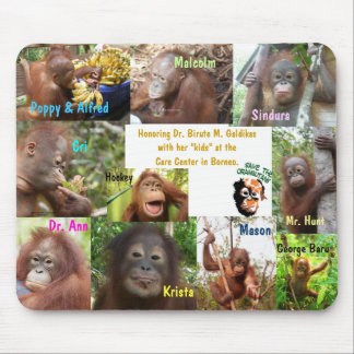 Save Orangutans Endangered Species Wildlife Mouse Pad