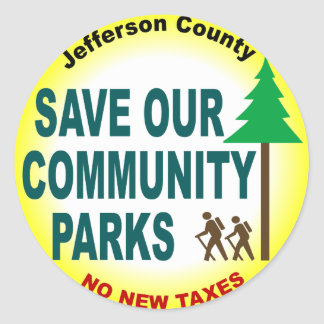 Save Our Community Parks Classic Round Sticker