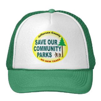 Save Our Community Parks Hats