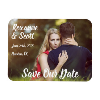 "Save Our Date Customized 3"" x 4"" Photo Magnet"