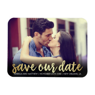 Save Our Date | Cute Unique Photo Magnet