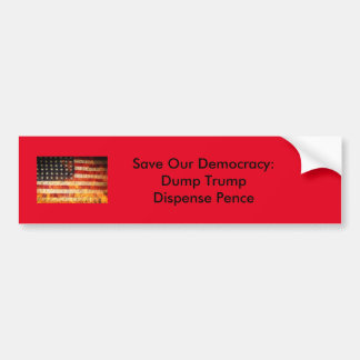 Save Our Democracy Bumper Sticker