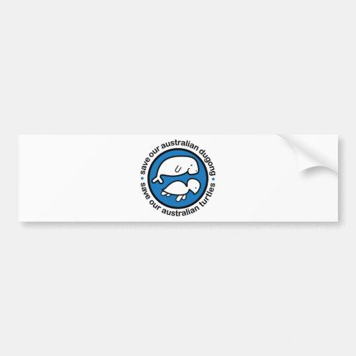 Save our dugong & turtles bumper stickers