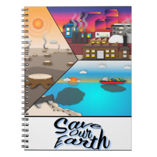 Save our earth notebooks