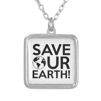 Save Our Earth Silver Plated Necklace