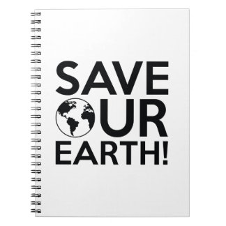 Save Our Earth Spiral Notebook