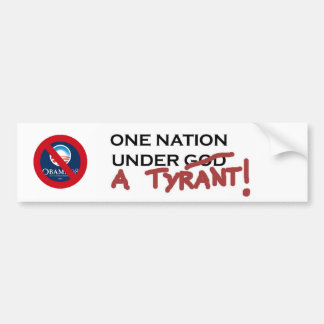 SAVE OUR NATION FROM THIS TYRANT BUMPER STICKER