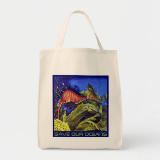 SAVE OUR OCEANS Grocery Bag