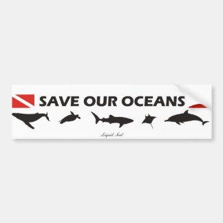 Save Our Oceans - Sticker Bumper Sticker