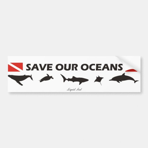 Save Our Oceans - Sticker Bumper Stickers