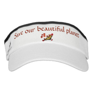 Save Our Planet Butterfly Flowers Visor