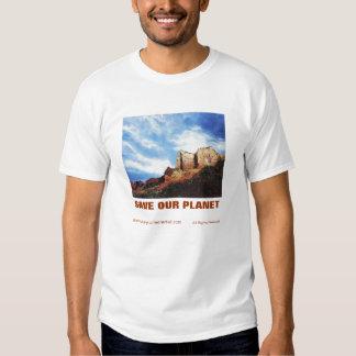 SAVE OUR PLANET EDUN LIVE Adam Organic Tee. Tee Shirt