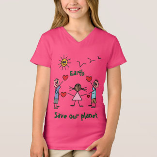 Save our planet Peace Love Design Cute T-Shirt